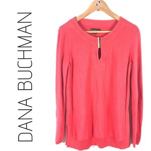77ee70cb4e9f9 DANA BUCHMAN Coral Knit Long Long Sleeves Top